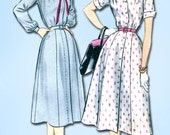 1950s Sewing Patterns | Swing and Wiggle Dresses, Skirts 1950s Vintage McCalls Sewing Pattern 3288 Misses Shirtwaist Dress Size 16 34 B $16.95 AT vintagedancer.com