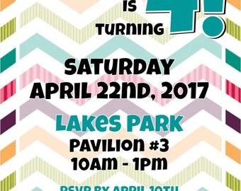 "Kids Party 5""x7"" Custom Party Invitation Digital Printable"