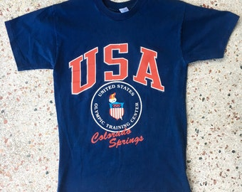 1980s USA Olympic Training Center Colorado Springs vintage tee shirt - size medium