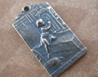 Religious Medal Vintage Inspired Religious Jewelry Supplies Jesus Are You There B1058LS