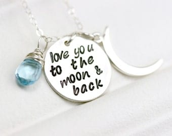 Custom Mothers Day Jewelry - New Mom Necklace - Mothers Day Gift Ideas - Sterling Mom Necklace - Mothers Birthstone Necklace - New Mom Gift