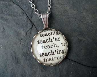 Dictionary Pendant - Teacher