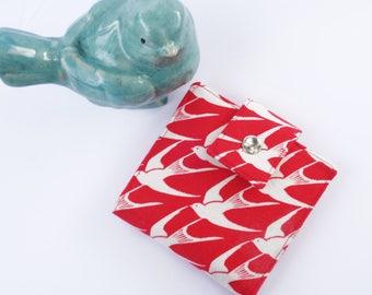 Handmade wallet-small bifold-japanese fabric-wallet-Women's wallet-wallet for women-gift for women-gift for woman-small wallet-vegan wallet