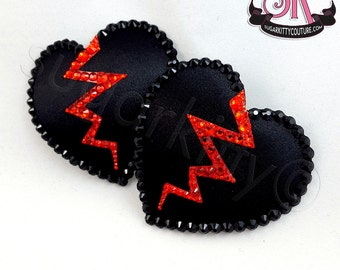 Anti-Valentine's Day Broken Heart Nipple Pasties - SugarKitty Couture