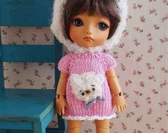 Pink bear set for Pukifee, Mui Chan, Lati Yellow, dress and hat