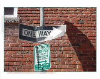 One Way in Washington, DC - One Way Sign