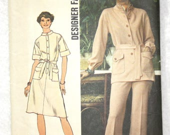 "Size 14 bust 36""  Simplicity  Sewing Pattern 6503 Dress or Tunic and Pants - Designer Fashion"