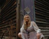 Size XXS... Vintage Gunne Sax Dress... Gunne Sax Mini Dress... Lavender Floral