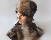 Felted hat, Brown wool hat, Felt winter warm hat, Brown Wool Hat Unisex, Warm felt hat Brown alpaca felted hat