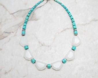 Bold Necklace. Chunky Necklace. Chunky Turquoise Necklace. Southwest Necklace. Big Stone Necklace. Modern Boho Necklace. TaraLynEvans. ADA