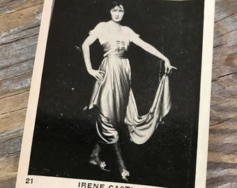 RARE 20s Movie Souvenir Trading Card EGYPTIAN PRETTIEST Cigarettes Irene Castle Old Hollywood Photo Advertising Promotion