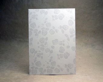 5x7 inch Print at Home Invitation Panels - 100% Recycled Grey Rose Flower set of 6