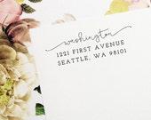 Self Inking Return Address Stamp, Custom Stamp, Self Inking Address, Personalized Stamp, Wedding Stamp, Housewarming Gift - Style #67