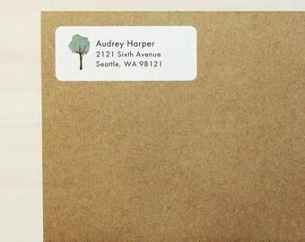 Return Address Labels - Tree Labels, Custom Printed Labels, Personalized Labels, Baby Shower Labels, Tree Address Labels, Housewarming Gift