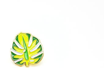 Lapel Pin - Majestic Monsterra Leaf