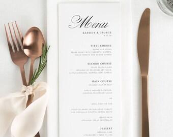 Charming Elegance Dinner Menus - Deposit
