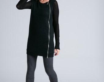 NEW Black Sweater / Wool Sweater / Black Jumper / Winter Sweater / Black Blouse / Knitted Sweater / marcellamoda - MB717