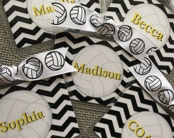 Volleyball Gifts Volleyball Bag Tag  Volley Ball Tag  Volleyball Mom Gift Volleyball Coach Gift Volleyball Party Favor Volleyball Player