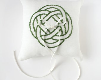 Irish Ring Pillow, Ring Bearer Pillow, Celtic Knot, Irish Pillow, Irish Wedding