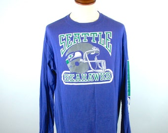 1980's Seattle Seahawks Long Sleeve T-Shirt
