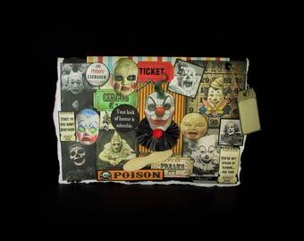 Scary Clown Card, Circus Clown Card, Blank Clown Card, Clown Card, 105, Creepy Clown Card, Vintage Clown Images, Creepy Decoration,  Blank