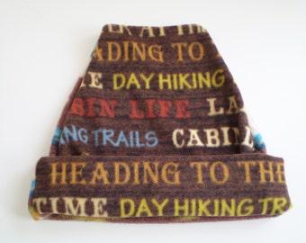 Fleece Cabin Cap, Fleece Bear Cap, Fleece Woods Cap, 2 Sides Fleece Cap, Hiking Cap, Fleece Slouchy Bear Cap, Fleece Cabin Hat