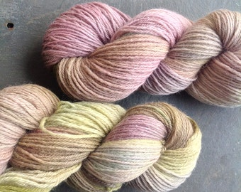 PASTEL TWIST - hand dyed super soft Merino yarn 100g/3.5oz