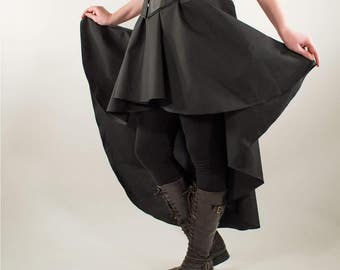 Beautiful cotton fantasy steampunk skirt, larp, victorian, pirate, renaissance, made to order