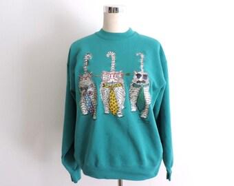 Cat Sweatshirt Large