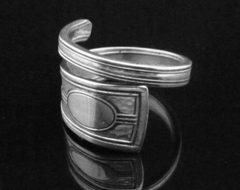 Hammered Sterling Silver Spoon Ring