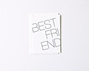 Best Friend - Letterpress Printed Greeting Card