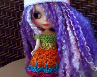 Penguin Blythe Doll Hat, Blythe Doll Penguin Beanie, Blythe Doll Crochet Hat, Cute Penguin Blythe Hat, Pink Blythe Doll Beanie