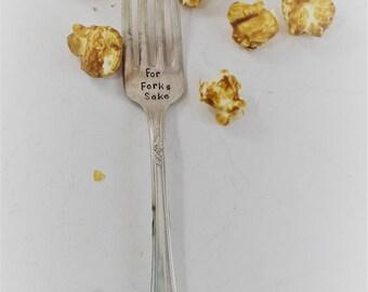 For Forks Sake Silver Fork Gift for Mothers Day Silver Flatware Vintage Antique