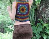 RESERVED Woolen Crochet Mandala Lace up Waistcoat Vest
