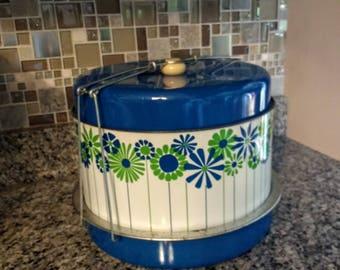 Vintage J.L. Clark Metal Cake and Pie Carrier / Triple Decker Food Carrier / Mid-Century 1960's Food Storage