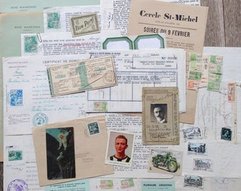 The ultimate antique green and beige paper inspiration pack.