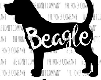 Beagle SVG PNG DXF Dog Breed Lover Outline Instant Download Silhouette Cricut Cut Files Cutting Machine Vector File