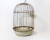Small Vintage Chippy Domed Birdcage