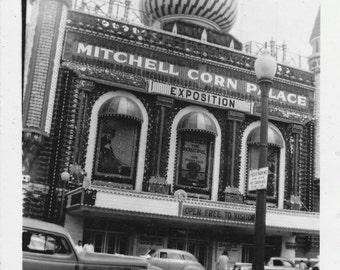Mitchell Corn Palace Real Photo - Vintage, Antique B/W