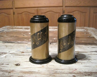 1960 Abon Musical Salt and Pepper Shakers, Made in Japan