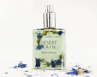 Desert Rain Body Oil | Body Serum with Blue Tansy, Sage, Jasmine and more | 100% natural and vegan moisturizer