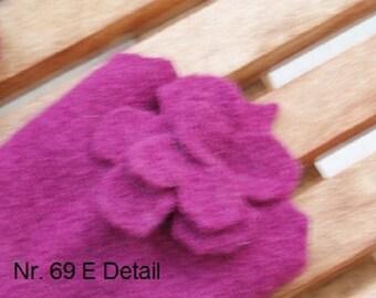 ARM WARMERS magenta blossom (69)