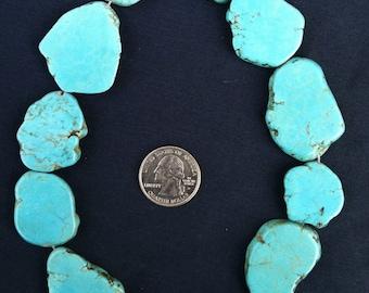 Blue Magnesite Freeform slab strand
