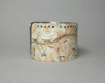 Map Bracelet Grand Canyon National Park Arizona Unique Going Away Gift for the Traveler Men or Women