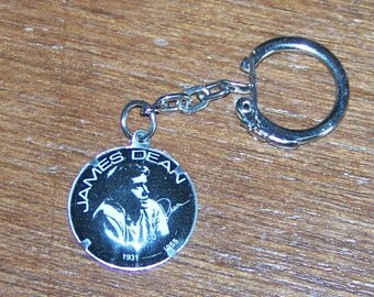 Retro James Dean Tin Keychain