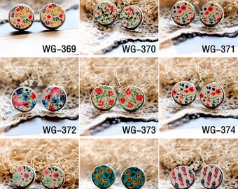 20% off -All Design Unique 3D Embossed 16mm Round Handmade Wood Cut Cabochon to make Rings Earrings Bobby pin Bracelets-(HPP-WG) Part 7
