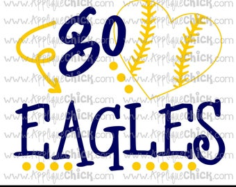 Go Eagles Baseball SVG Clipart