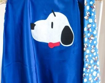 Snoopy Superhero Cape / Size SMALL Blue / Kids Costume Accessory