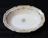 Vintage Victorian Rose Serving Bowl