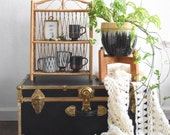 short wood plant stand table / 4 legged